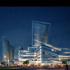 Skyscraper Shopping Mall 071 3D Model