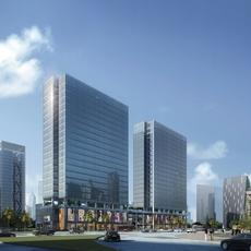Modern Office building 072 3D Model