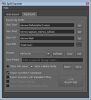 Free FBX Split Exporter for Maya 1.0.0 (maya script)