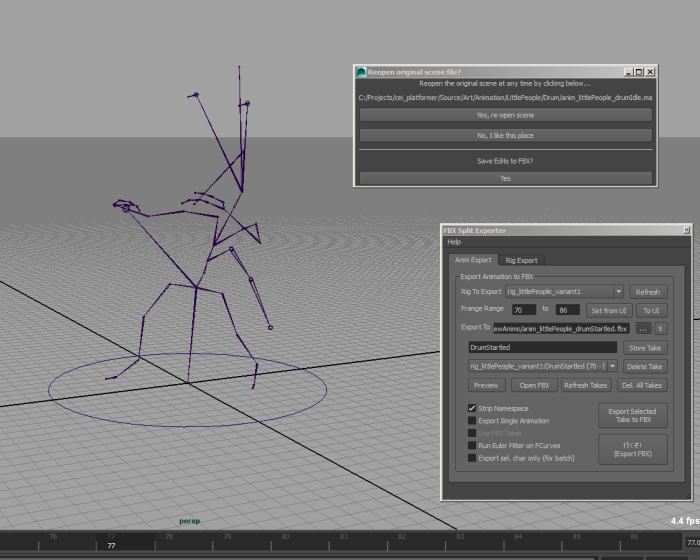 FBX Split Exporter for Maya - Free Animation Scripts / Plugins