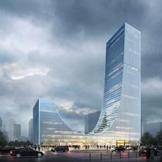 Skyscraper building 077 3D Model