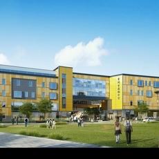 School Building 078 3D Model