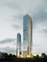 Skyscraper in city 081 3D Model