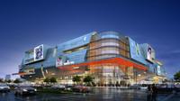 Modern commercial building 097 3D Model