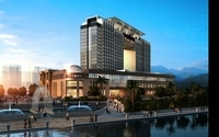 Modern Hotel Building 114 3D Model
