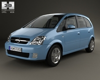 Opel Meriva (A) 2003 3D Model