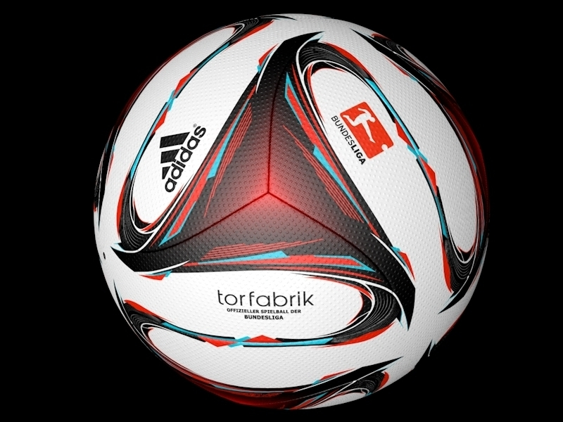 super quality shopping affordable price Adidas Torfabrik Official 2015 Bundesliga match ball 3D Model