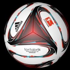 Adidas Torfabrik Official 2015 Bundesliga match ball 3D Model