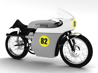 Norton Racer 1960 3D Model