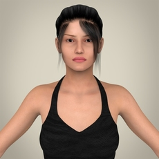 Realistic Young Sexy Lady 3D Model