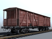 Indoor cargo boxcar 3D Model