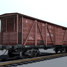 Indoor cargo boxcar 3D Model