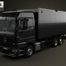 Mercedes-Benz Actros Box Truck 3-axis 2002 3D Model