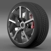 Lamborghini Aventador J wheel 3D Model