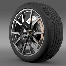 Lamborghini Aventador Roadster wheel 3D Model