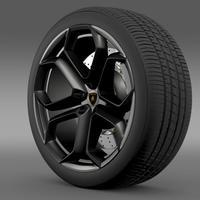 Lamborghini Aventador wheel 3D Model