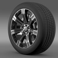 RangeRover Autobiography black wheel 3D Model