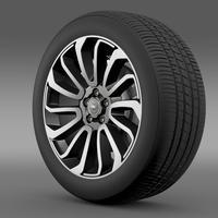 RangeRover V8 wheel 3D Model
