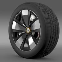 Volkswagen Beetle Dune wheel 3D Model