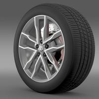 Volkswagen Polo TSI Bluemotion wheel 3D Model