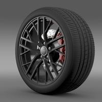 Audi R8 LMX wheel 2014 3D Model