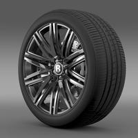 Bentley Continental GT Speed wheel 2014 3D Model