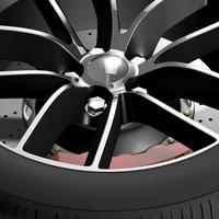 Dodge Challenger 392 wheel 2015 3D Model