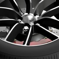 Dodge Challenger 392 wheel 2015 3D Model