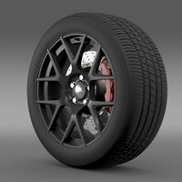 Dodge Challenger RT Shaker wheel 2015 3D Model