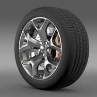 Dodge Challenger SXT wheel 2015 3D Model