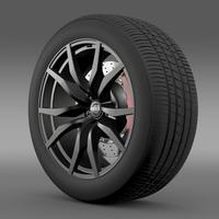 Nissan GTR wheel 2015 3D Model