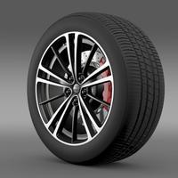 Subaru BRZ wheel 2013 3D Model