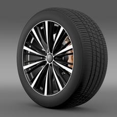 Toyota FT 86 open concept wheel 2014 3D Model