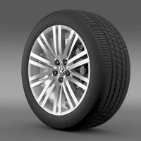 Volkswagen Polo BlueGT wheel 2014 3D Model