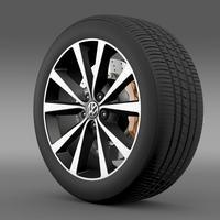 Volkswagen Polo wheel 2014 3D Model