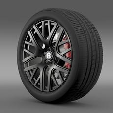 Bentley Continental GT 3 wheel 3D Model