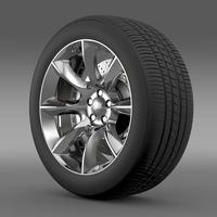 Dodge Challenger SRT wheel 3D Model