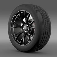 Dodge Challenger Supercharged Hellcat wheel 3D Model
