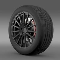 Subaru BRZ STI wheel 3D Model