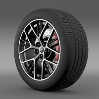 Toyota GT 86 concept wheel 3D Model