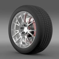 Toyota GT 86 GRMN wheel 3D Model