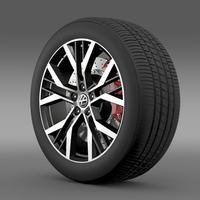 Volkswagen Golf GTI wheel 3D Model