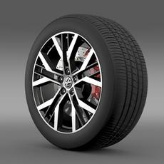 Volkswagen Golf GTI wheel 3D Model