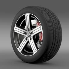Volkswagen Golf R wheel 3D Model