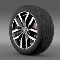 Volkswagen Golf S wheel 3D Model