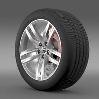 Volkswagen Golf TDI wheel 3D Model