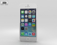 Apple iPhone 5S Silver 3D Model