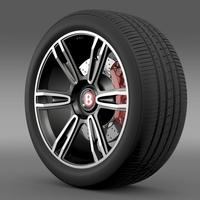 Bentley Continental GT wheel 2 3D Model