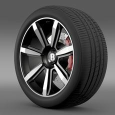 Bentley Continental GT wheel 3 3D Model