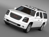 GMC Yukon XL Denali flexfuel 2011-2014 3D Model